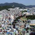 風景,釜山タワーより,韓国,山〈著作権フリー無料画像〉Free Stock Photos