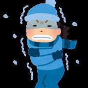 寒い外のイラスト