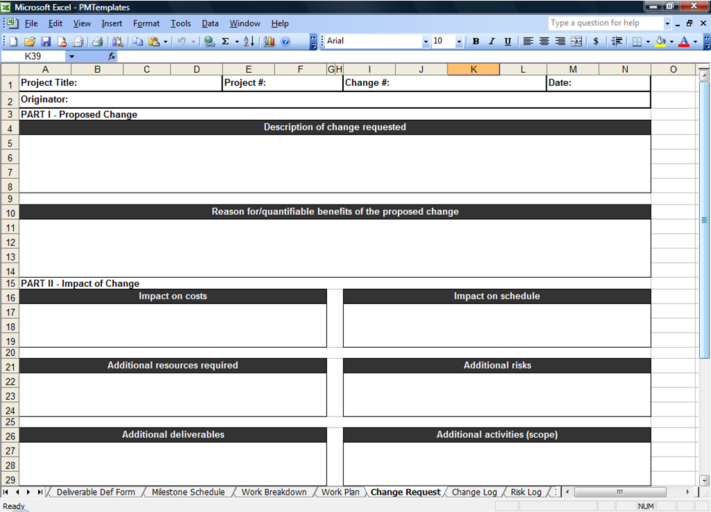 download project management templates excel free
