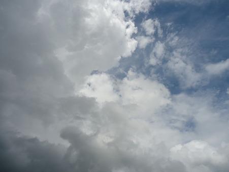 台風直前。