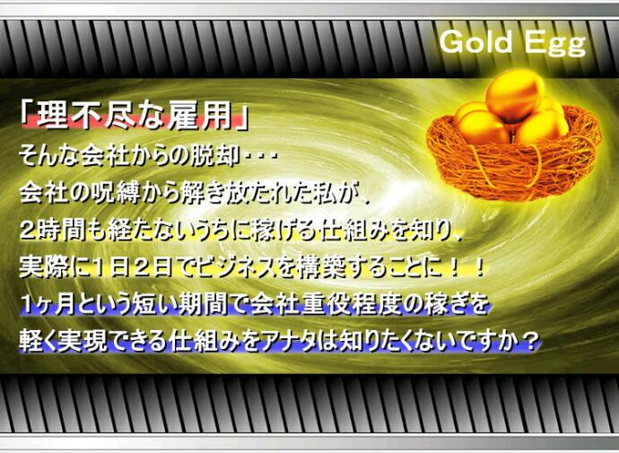 月収100万以上を実現する GOLD EGG