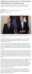 newsMarkets fear Russia has cut US treasury bill holding over Ukraine crisis