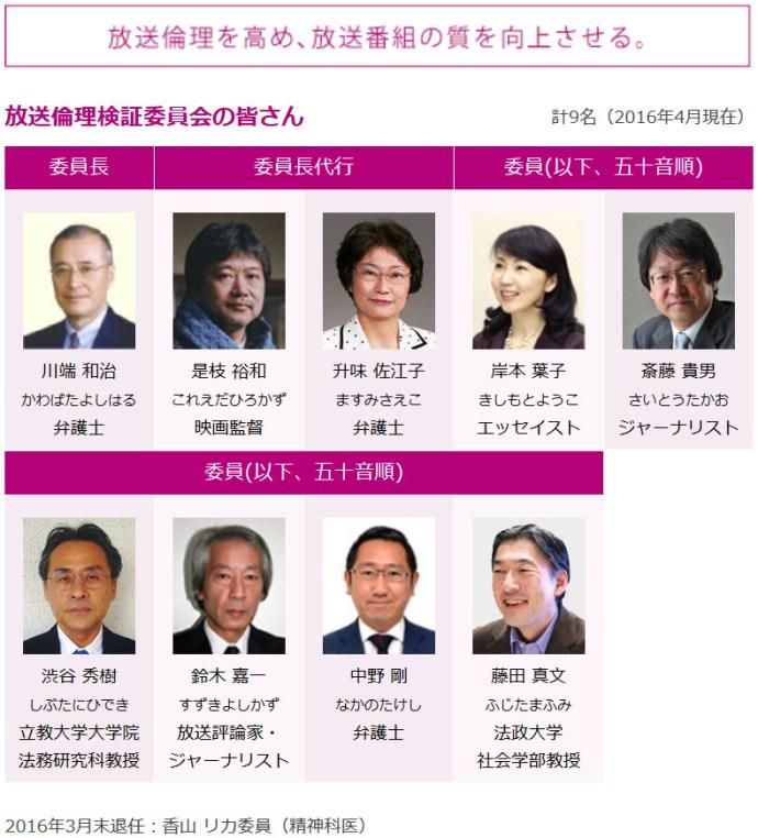 BPO放送倫理検証委員会 (ニュース女子の審査をする機関)