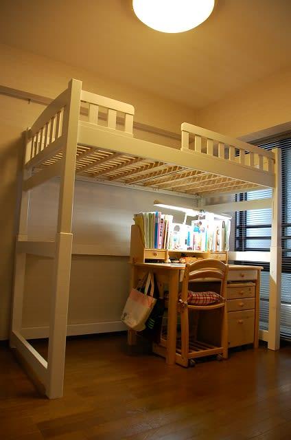 ロフトベッド改造~日用品棚と本棚~ | okazuのtext