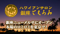 「ハワイアンサロン 銀座 ごえろみ」banner