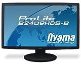 iiyama 23.6インチワイド液晶ディスプレイ 1920×1080(フルHD1080P)対応 3系統入力装備 マーベルブラック PLB2409HDS-B1