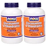 [海外直送品]2本セット Now Foods 社 (アメリカ製)グルコサミン&コンドロイチン・...