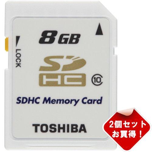 【2個セット】お買得!Toshiba東芝SDHC カード 8GB 超高速クラス10 純正品(並行輸入品 パッケージ品)
