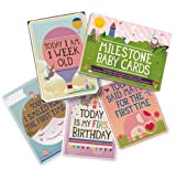 Milestone Baby Cards Gift Set -first Smile, Fir...