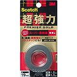 3M スコッチ 超強力両面テープ プレミアゴールド スーパー多用途 粗面用 19mm×1.5m...