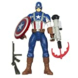キャプテン・アメリカ ムービー/エレクトロニック ライト&サウンド 10インチ アクションフィギュア/ヒーロー パワー キャプテン・アメリカ