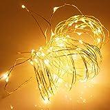 LED ジュエリーライト 電池式 5m50球  (ウォームホワイト) イルミネーション ライト...