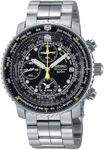 [セイコー]SEIKO 腕時計 パイロットクロノグラフ Ref.SNA411P1<ブラック>[逆輸入]