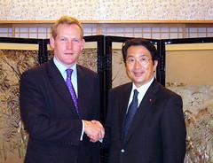 イギリスのブラウン外務担当閣外大臣と会談