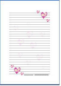 ハートの便箋白ピンク横書きa4無料ダウンロード 家族ゲーム