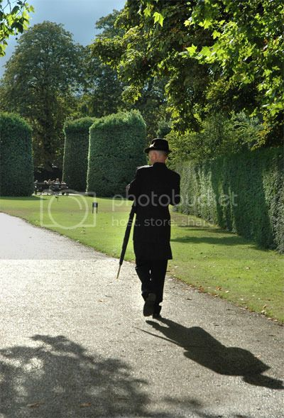 This English Gentleman is walking in a park in Kensington, picture by Jenny Rollo