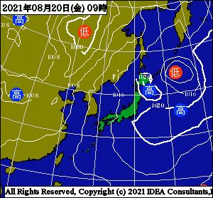 天気図/明日の気圧配置図