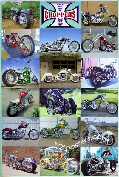 West Coast Choppers(Classic)Motorcycle Poster J-1772 New
