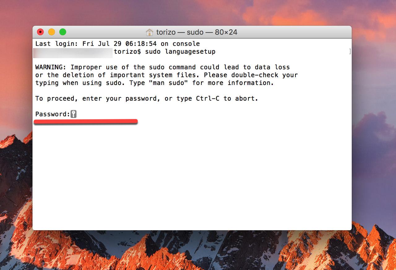 How to change language used login screen mac3