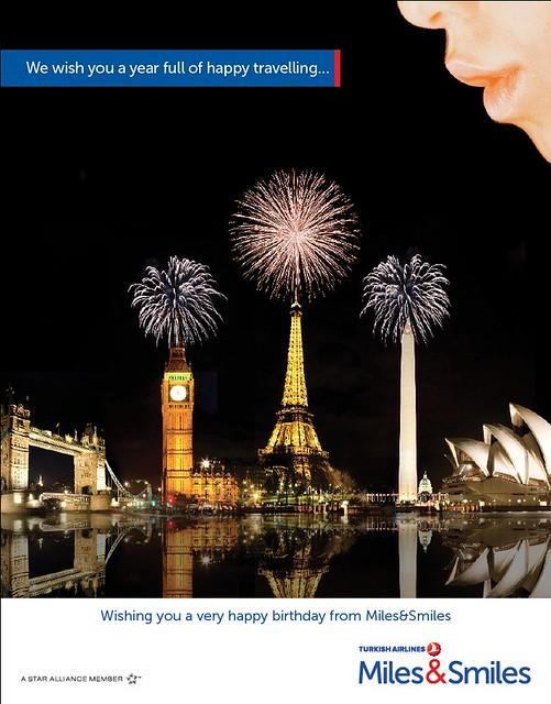 $ま~くん@モントリオールの、行き当たりバッタリ的な。。。-Turkish Airlines Birthday Card
