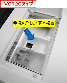 洗剤投入VG720タイプ