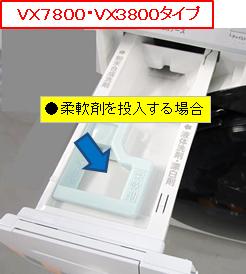 柔軟剤投入VX7800タイプ