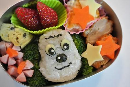 「ワンワンおにぎり弁当」(NHK「いないいないばぁ」より