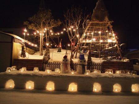 雪のひな壇★
