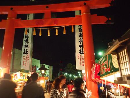 竹駒神社表参道の鳥居後ろから