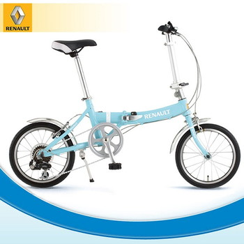 ルノー 折りたたみ自転車(16インチ) ミントブルー