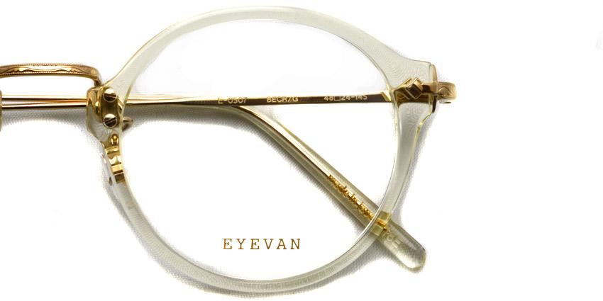 EYEVAN / E-0507 / BECRG / ¥33,000+tax