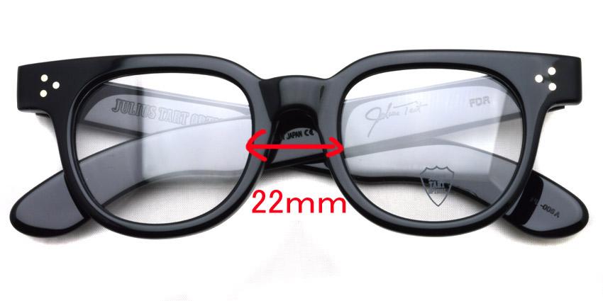 JULIUS TART OPTICAL / FDR / Black / Bridge : 22mm / ¥37,000+tax