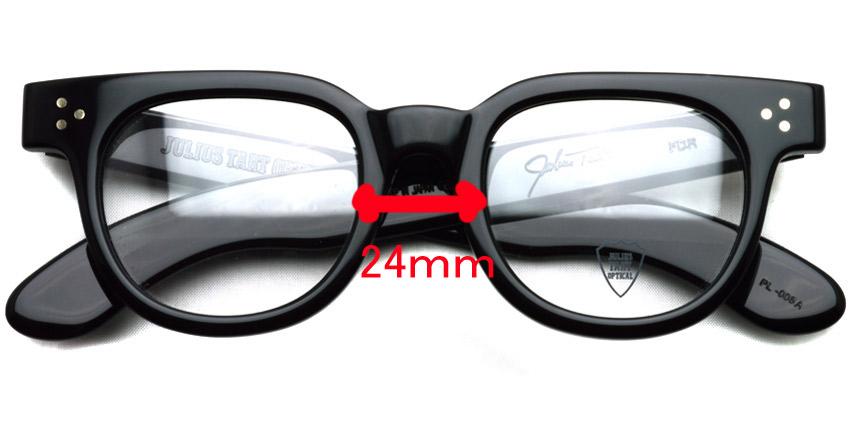 JULIUS TART OPTICAL / FDR / Black / Bridge : 24mm / ¥37,000+tax