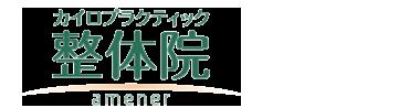 四街道・佐倉の整体は【女性満足度NO1】カイロプラクティック整体院アムネ ロゴ