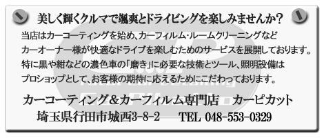 $埼玉のカーフィルム、ガラスコーティング専門店