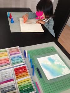 親子でお絵描き