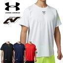 アンダーアーマー メンズ 野球 Tシャツ ベースボールシャツ ベーシャツ ヒートギア(夏用) ...