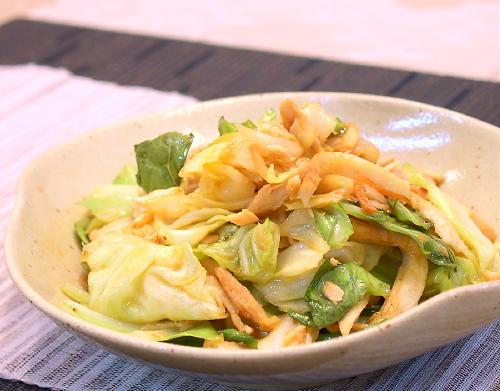 キャベツとツナのキムチ炒めレシピ