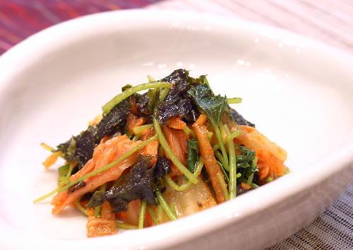 みつばと韓国のりのキムチ和えレシピ