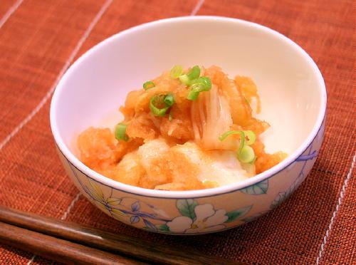 お餅のキムチおろし和えレシピ