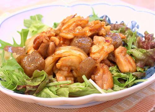 鶏肉とこんにゃくのキムチ照り焼きレシピ