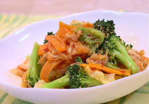 野菜とキムチのごまあえレシピ