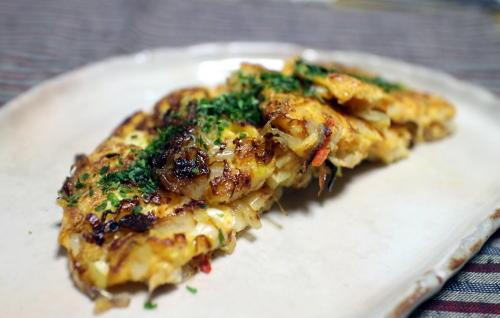 今日のキムチレシピ:キムチとシラスの卵焼き